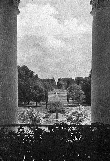 Від з балкона палаца. 1910 год.