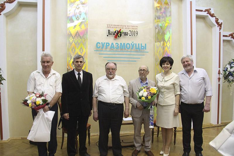 Во время записи популярной авторской программы Наума Гальперовича «Суразмоўцы», которая состоялась на одной из фестивальных площадок.