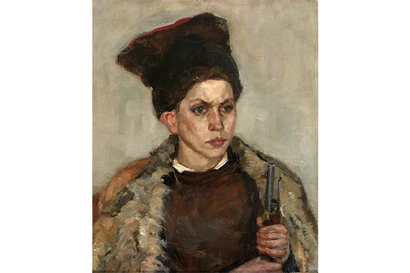 Яўген Аляксеевіч Зайцаў (1908—1992). «Партрэт юнага партызана». 1943 г. Палатно, алей.
