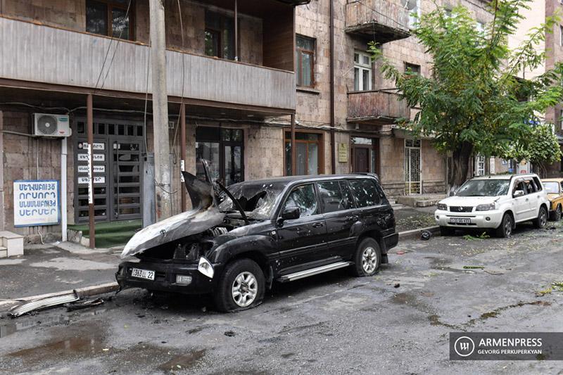Степанакерт после обстрела. Фото: armenpress.am