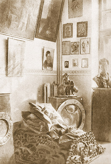 Куток яўрэйскага аддзела Беларускага дзяржаўнага музея. 1929 год.
