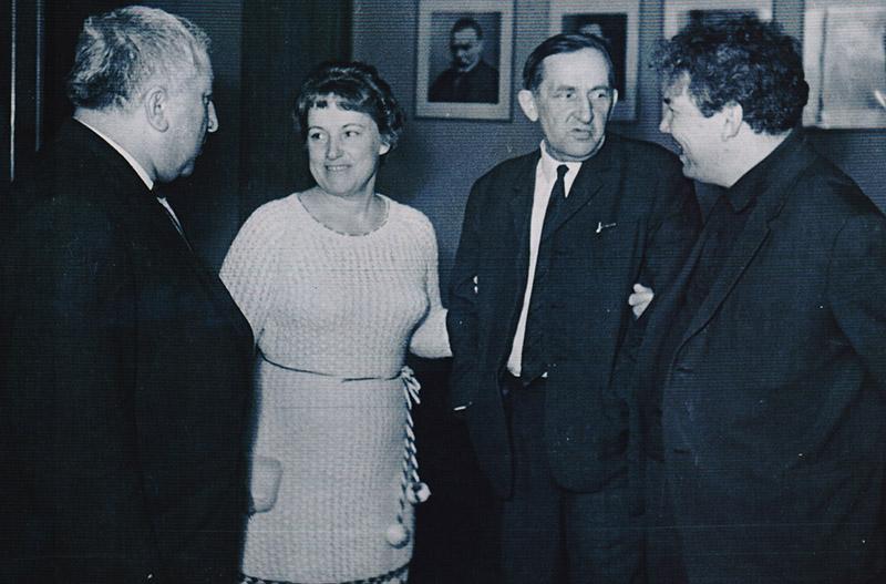 Расул Гамзатов, Евдокия Лось, Ярослав Смеляков, Мустай Карим. Москва, 1967 год.