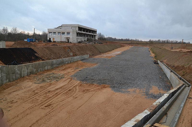 Так пока выглядит новый биатлонный комплекс в Чаусах.