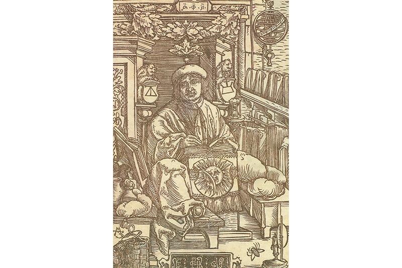 Гравюра з пражскіх выданняў Скарыны 1517 года.