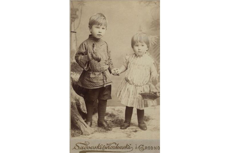 Максім і Вадзім Багдановічы, г. Гродна, 1893 г