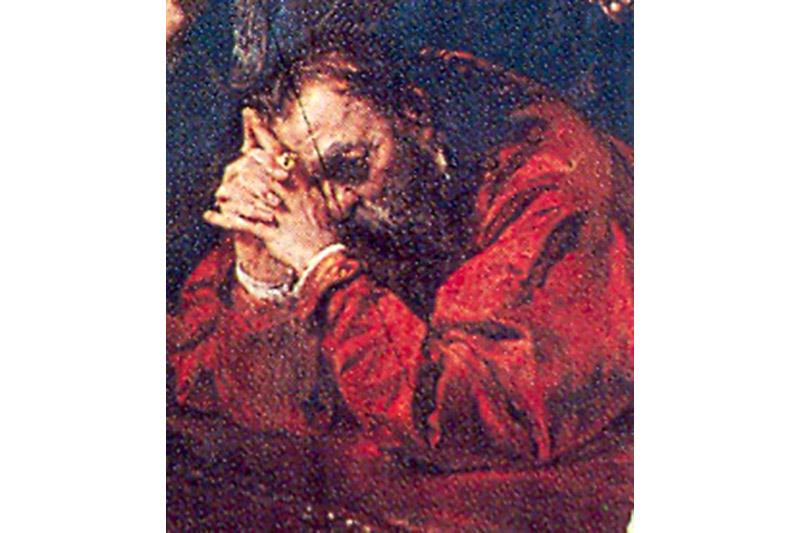 Геранім Хадкевіч. Фрагмент карціны Яна Матэйкі «Люблінская унія», 1869 год.