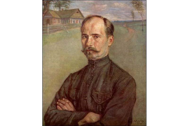 Якаў Кругер. Партрэт Якуба Коласа, 1923 г