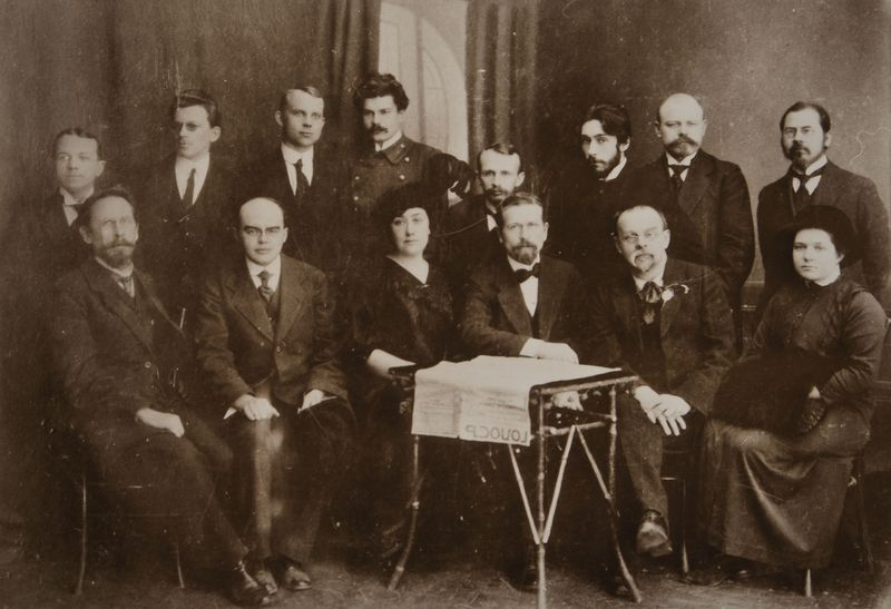 Рэдакцыя газеты «Голас». 1915—1916 гг.