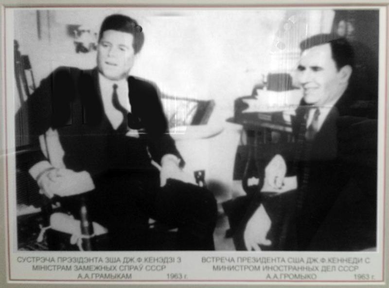 Сустрэча прэзідэнта ЗША Дж. Ф. Кенэдзі з міністрам замежных спраў СССР А. А. Грамыкам.
