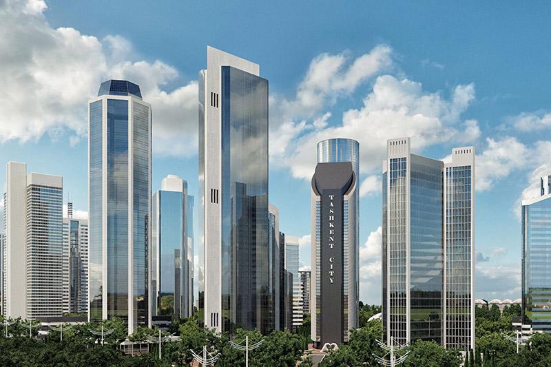 Международный деловой центр «Ташкент-Сити» в столице Узбекистана.