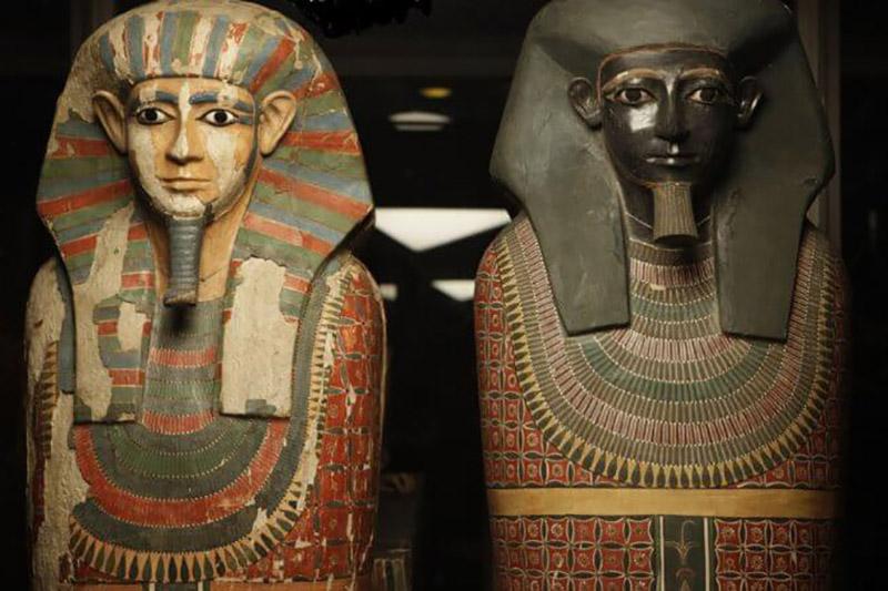 Як правіла, фараонаў хавалі ў дарагіх саркафагах.