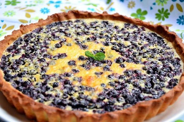 Черничный заливной пирог рецепт