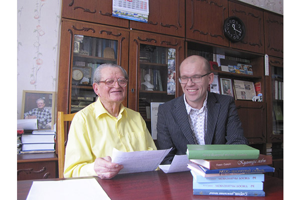 Павел Сцяцко і Валянцін Аскірка.