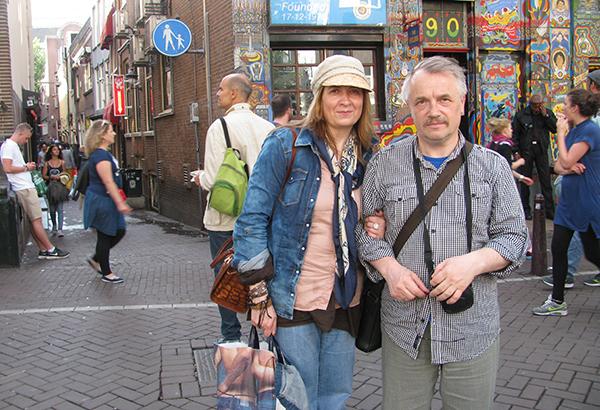 Падарожжы — агульнае захапленне сям'і. 2015 год. Амстэрдам, квартал Чырвоных ліхтароў.