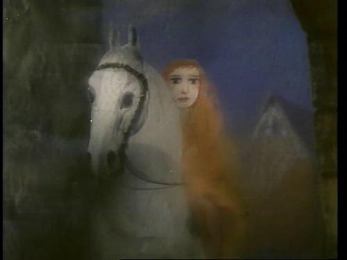 Кадр з мультфільма «Легенда пра лэдзі Гадзіву»