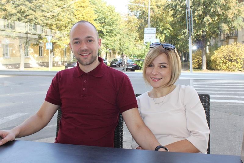 С мужем Денисом