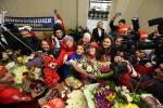 Беларускія алімпійскія чэмпіёнкі вярнуліся на радзіму