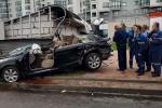 В Минске легковушка врезалась в вентиляционный киоск