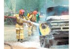 Пажар на колах