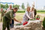Могилевские депутаты вместе с местной властью и общественностью установили в Казимировке памятный знак