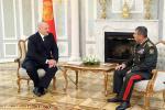 Кіраўнік дзяржавы сустрэўся з міністрам абароны Азербайджана