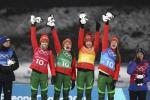 Жаночая зборная выйграла алімпійскую эстафету па біятлоне ў Пхёнчхане