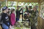 Як у дзіцячым лагеры асвойваюць вайсковую навуку
