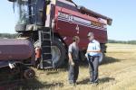 «Звязда» выехала на уборку овса в Чечерский район