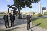 Памятны знак «Беларусам замежжа» ўрачыста адкрылі ў Траецкім прадмесці