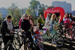Как жительницы Гродно на велосипедную прогулку вышли