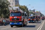 Дзень пажарнай службы ў Мінску адсвяткавалі яскравым парадам