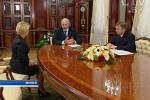 Аляксандр Лукашэнка прыняў з дакладам Алену Кудравец