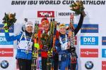 Дарья Домрачева заняла третье место в гонке преследования на этапе КМ