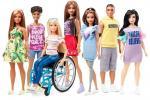 У продаж паступяць лялькі Барбі з пратэзам ногі і на інваліднай калясцы