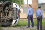 У Баранавічах міліцэйскі УАЗ перакуліўся, сыходзячы ад сутыкнення