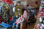 Муж і жонка ў Германіі ўсталявалі дома 350 калядных ёлак