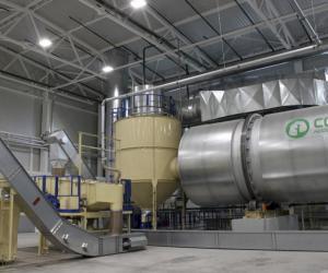 Пяць тон каштоўнага біяпаліва ў гадзіну выпускае новы завод у Мазыры