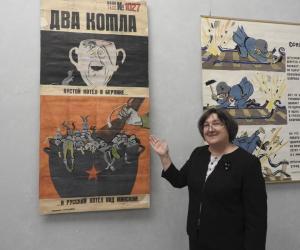 У Беларускiм дзяржаўным музеі гiсторыi Вялiкай Айчыннай вайны выстаўлены арыгіналы карыкатур ваеннага часу