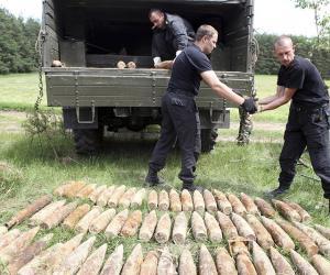 Як у Беларусі абясшкоджваюць боепрыпасы