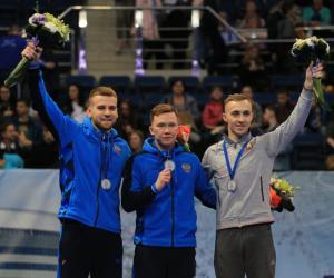 Три медали медали на этапе Кубка мира по прыжкам на батуте