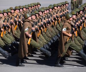 Карэспандэнты «Звязды» пабывалі на рэпетыцыі ваеннага парада