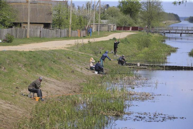 Рыбалка на Агінскім канале