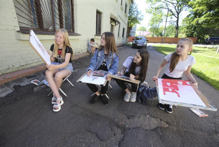Пленэр на Ніжне-Пакроўскай
