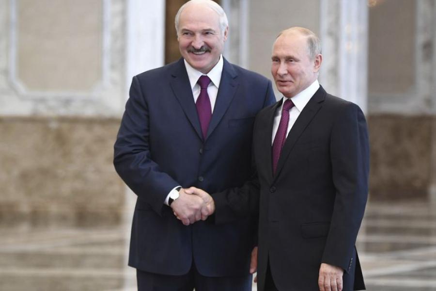 Уладзімір Пуцін: Аб'ём гандлю з Беларуссю можна падняць да $50 млрд