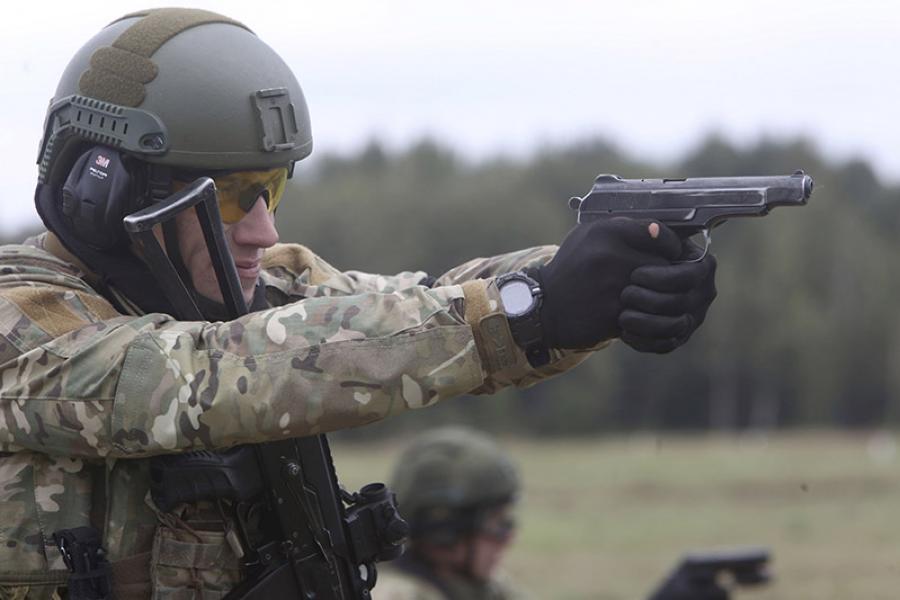 Прошли соревнования среди представителей спецназа