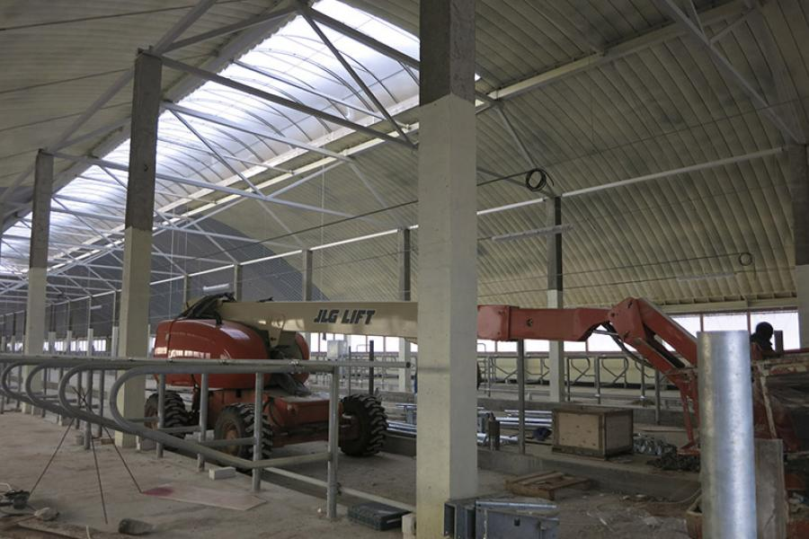 У Кіраўскім раёне будуецца ферма новага пакалення