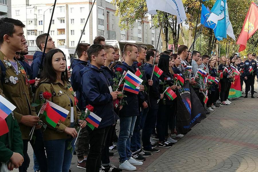 Адбыўся злёт студэнцкіх атрадаў Беларусі і Расіі