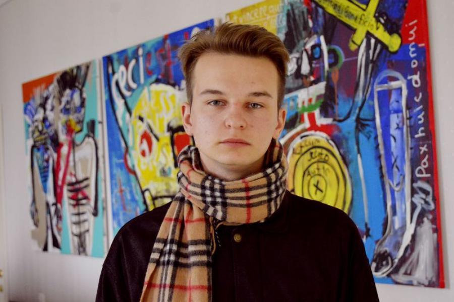 Антон Дарашэвіч: Я жадаю быць ваяўнічым мастаком