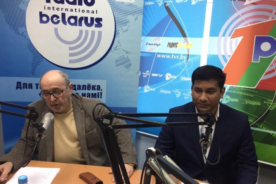 Перакладчык з Бангладэш - у гасцях на радыё «Беларусь»