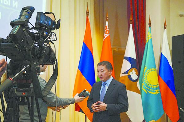 Член коллегии (министр) по конкуренции и антимонопольному регулированию Евразийскойэкономической комиссии Нурлан Алдабергенов.